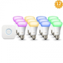 Deals List: 12 Philips Hue White and Color 3rd Gen A19 Bulb Kit Refurb