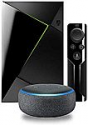 Deals List: NVIDIA - SHIELD TV - 4K HDR Streaming Media Player with Google Assistant - Black + Echo Dot