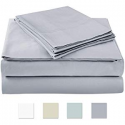 """Deals List: AXIA 500 Thread Count 100% cotton Sheet Set, Grey Queen Sheet Set, 4-piece Long Staple Combed Pure Cotton best sheets for bed, Breathable, Soft & Silky Sateen Weave Fits Mattress upto 18"""" deep pocket"""