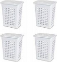 Deals List: Sterilite 12238004 Rectangular LiftTop Laundry Hamper, White, 4-Pack