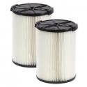 Deals List: 2-PK RIDGID VF4200 1-layer Dirt Pleated Paper Filter 5-Gal f