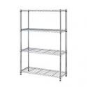 Deals List: BestOffice 54-inch 4 Tier Adjustable Steel Wire Metal Shelving Rack T54