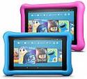 Deals List: Fire 7 Kids Edition Tablet 2-Pack, 16GB (Blue/Pink) Kid-Proof Case