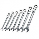 Deals List: GearWrench 7 pc. Metric Full Polish Ratcheting Flex Head Combination Wrench Set