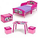 Deals List:  Disney 4-Piece Toddler Bed Bedroom Set with BONUS Fabric Toy Box