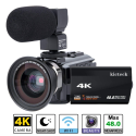Deals List: Video Camera Camcorder 4K kicteck Ultra HD Digital WiFi Camera 48.0MP 3.0 inch Touch Screen Night Vision 16X Digital Zoom Recorder with External Microphone and Wide Angle Lens,2 Batteries(4KMW)
