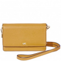 Deals List: MICHAEL KORS Pebbled Leather Crossbody Marigold