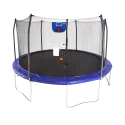 Deals List: Skywalker Trampolines 15-Foot Jump N' Dunk Trampoline with Enclosure Net – Added Safety Features – Meets or Exceeds ASTM – Made to Last – Basketball Trampoline
