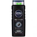 Deals List: NIVEA Men Active Clean Body Wash , Natural Charcoal, 16.9 Fluid Ounce (Pack of 3)