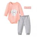 Deals List: Fiream Baby Girls Clothes Infant Romper Bodysuit + 3pcs Outfits Set