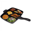 """Deals List: Master Pan Non-Stick Divided Grill/Fry/Oven Meal Skillet, 15"""", Black"""