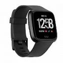 Deals List: Fitbit Versa Smart Watch, Black/Black Aluminium, One Size (S & L Bands Included)