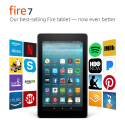 """Deals List: All-New Fire 7 Tablet with Alexa, 7"""" Display, 8 GB, Black - with Special Offers"""