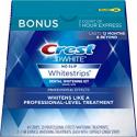 Deals List: Crest 3D White Professional Effects Whitestrips Whitening Strips Kit, 22 Treatments, 20 Professional Effects + 2 1 Hour Express Whitestrips