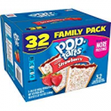 Deals List: Pop-Tarts Breakfast Toaster Pastries, Frosted Strawberry Flavored, Family Pack, 58.6 oz (32 Count)