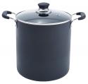 Deals List: T-fal B36262 Specialty Total Nonstick Dishwasher Safe Oven Safe Stockpot Cookware, 12-Quart, Black