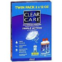 Deals List: Clear Care Triple Action Cleaning and Disinfecting Contact Lens Solution (2x12 fl oz)