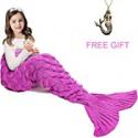Deals List: JR.WHITE Mermaid Tail Blanket for Kids