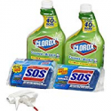 Deals List: Clorox Clean-Up Bleach Cleaner Spray and S.O.S All Surface Scrubber, 2 Sponges per Bottle