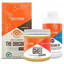 Deals List: Bulletproof Starter Kit, 12oz Ground Original Roast Clean Coffee, 16oz Ketogenic Brain Octane Oil, 13.5oz Grass-Fed Ghee, Perfect For Keto Diet
