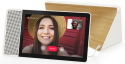 """Deals List: Lenovo - 10"""" Smart Display with Google Assistant - White Front/Bamboo Back, ZA3N0003US"""