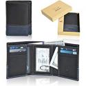 76cddb31d0ea12 Deals List: RFID Leather Trifold Wallets for Men - Handmade Slim Mens  Wallet 6 Credit