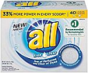 Deals List: all Powder Laundry Detergent, Free Clear for Sensitive Skin, 52 Ounces, 40 Loads