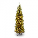 Deals List: National Tree 7.5 Foot Kingswood Fir Pencil Tree with 350 Clear Lights, Hinged (KW7-300-75)