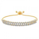Deals List: Adjustable Diamond Bolo Bracelet In Gold Plated Brass