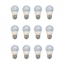 Deals List: EcoSmart 60-Watt Equivalent G16.5 Dimmable Clear LED Light Bulb, Soft White (12-Pack)