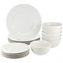 Deals List: AmazonBasics 18-Piece Dinnerware Set, Service for 6