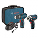 Deals List: Bosch 12-Volt 2-Tool Combo Kit (Drill/Driver and Impact Driver) CLPK22-120 with two 12-Volt Lithium-Ion Batteries, 12V Charger and Carrying Case