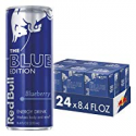 Deals List: Red Bull Energy Drink Blueberry 24 Pack of 8.4 Fl Oz, Blue Edition (6 Packs of 4)