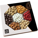 Deals List: Oh! Nuts 12 Variety Mixed Nut Gift Basket, Holiday Freshly Roasted Healthy Gourmet Snack Gifts| Premium Wood Tray | Prime Christmas Food Baskets for Men & Women, Fathers & Mother's Day Unique Idea