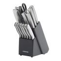 Deals List: Farberware 15-Piece Stamped Stainless Steel Knife Block Set