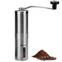 Deals List: Manual Coffee Grinder Ceramic Burr Mill Adjustable Grinds Hand Coffee Grinder Stainless Steel