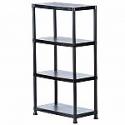 Deals List: HDX 4-Shelf 15 in. D x 28 in. W x 52 in. H Black Plastic Storage Shelving Unit
