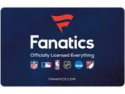 Deals List: $50 Fanatics Gift Card Email Delivery