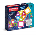Deals List: Magformers Neon (26 Piece) + Bonus Light Magnetic Building Blocks, Educational Magnetic Tiles Kit , Magnetic Construction STEM Toy Set