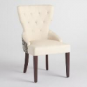 Deals List: Black Floral and Linen Maxine Dining Chair