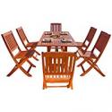 Deals List: Malibu V189SET7 Eco-Friendly 7 Piece Wood Outdoor Dining Set