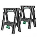 Deals List: Hitachi 115445 Folding Sawhorses, Heavy Duty Stand, 4 Sawbucks, 1,200 lb Capacity, 2 Pack