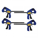 """Deals List: IRWIN QUICK-GRIP 1964758 One-Handed Mini Bar Clamp 4 Pack, 6"""""""