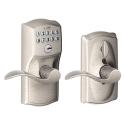 Deals List: Schlage FE595VCAM619ACC Camelot Keypad Accent Lever Door Lock, Satin Nickel
