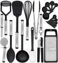 Deals List: Kitchen Utensil Set - 23 Nylon Cooking Utensils - Kitchen Utensils with Spatula - Kitchen Gadgets Cookware Set - Best Kitchen Tool Set Gift by HomeHero