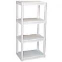 "Deals List: Plano 4-Tier Heavy-Duty Plastic Shelves, (22"" X 14"" X 48"")"