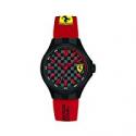 Deals List: Ferrari Pit Crew Black Dial Men's Two Tone Watch