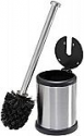 """Deals List: Bath Bliss Steel Toilet Brush and Holder, 4.5"""" Round by 14.75"""" high, Stainless"""