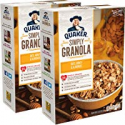 Deals List: Quaker Simply Granola Oats, Honey & Almonds, Breakfast Cereal, 28 oz Boxes, Twin Pack