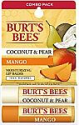 Deals List: Burt's Bees 100% Natural Moisturizing Lip Balm, Coconut & Pear and Mango with Beeswax & Fruit Extracts - 2 Tubes